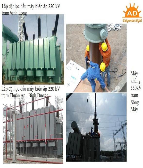 Sửa chữa bộ OLTC máy biến áp 220 KV Trạm Vĩnh Long