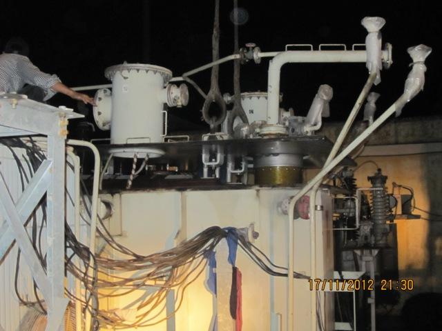 Sửa chữa bộ OLTC máy biến áp 550 KV Trạm Sông Mây